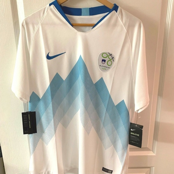 f6b2c17a Nike Shirts | 2018 Slovenia Stadium Home Soccer Jersey Size L | Poshmark